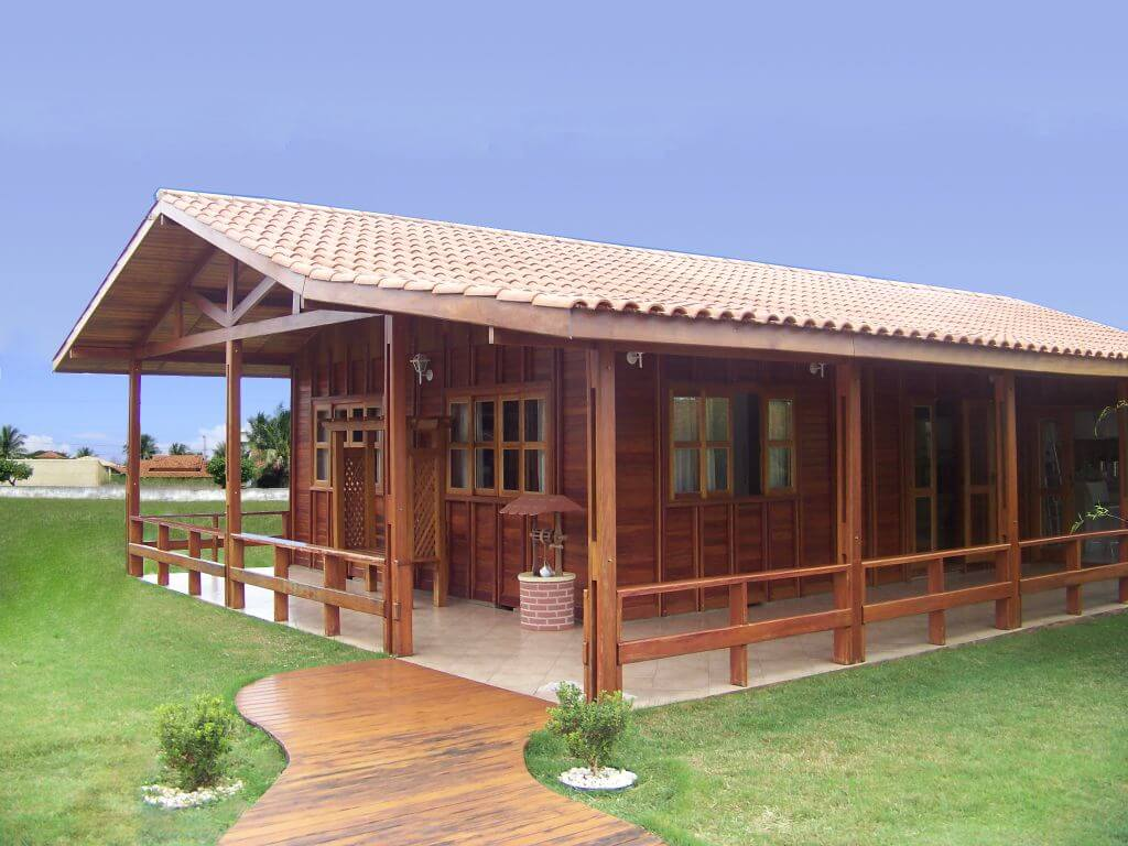 Casa de madeira com 3 dormit rios igua u boncasa express for Casa 3 dormitorios